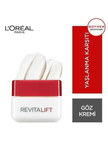 L'Oréal Paris Revitalift Kırışıklık Karşıtı + Exstra Sıkılaştırıcı Göz Bakım Kremi Renksiz